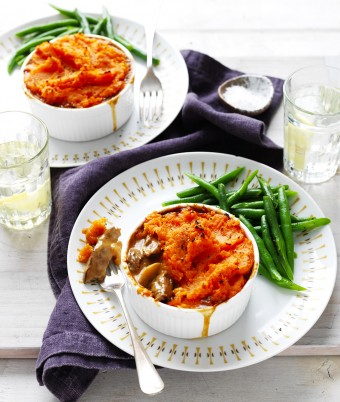 Beef Stroganoff and Sweet Potato Pot Pies