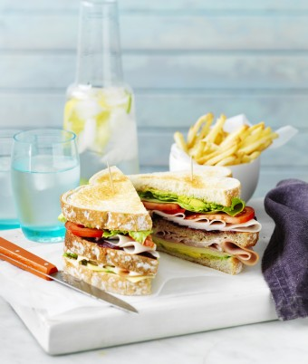 Super Ham and Turkey Club Sandwiches