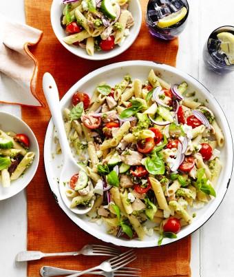 Tuna and Pesto Pasta Salad