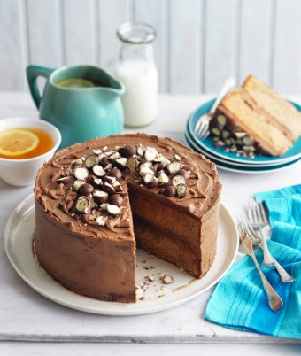 Party time Malted Milk Cake with Malted Frosting