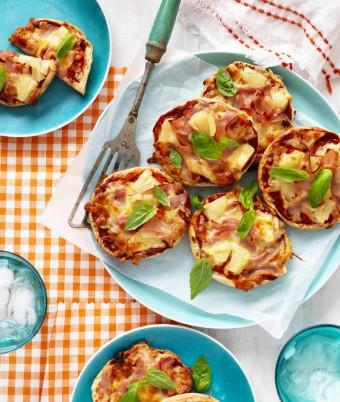 Mini Hawaiian Pizzas