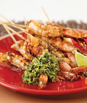 Coriander Peppercorn and Lime Prawns with Zesty Fresh Coriander and Lime Dressing
