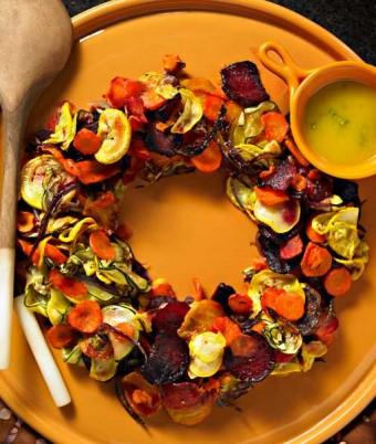 Roasted Vegetable Wreath