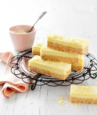 Lemon and coconut slice recipe