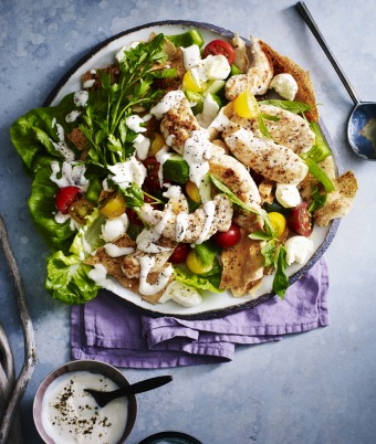 Fattoush and Chicken Warm Salad Recipe