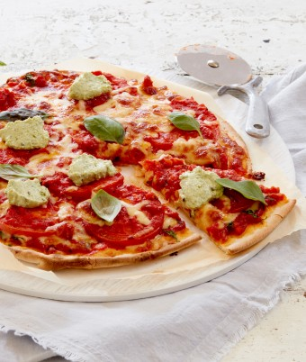 Margherita Pizza with Pesto Ricotta