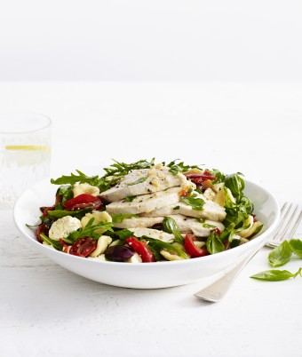Mediterranean Chicken Breast Pasta Salad