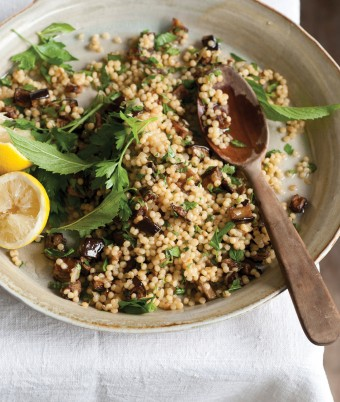 Ruby's Eggplant and Israeli Cous Cous Salad