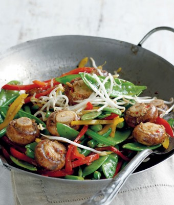 Wok Tossed Mushrooms and Veg recipe