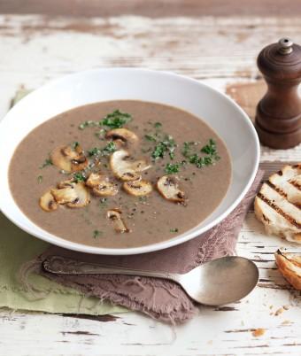Mushroom and Kale Soup