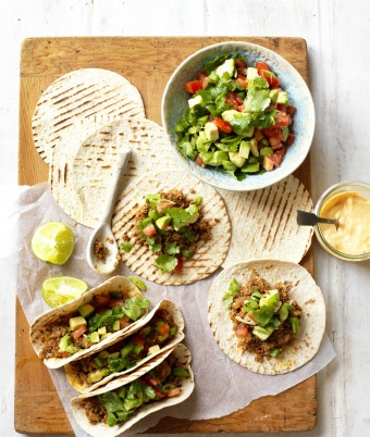 Mushroom and Beef Soft Shell Tacos