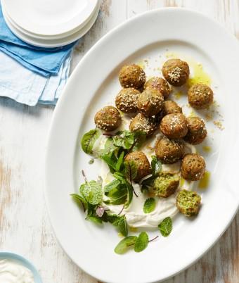 Mushroom and Halloumi Falafel