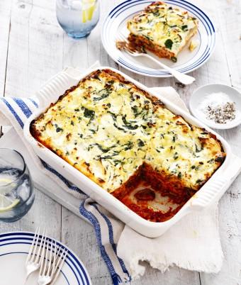 Mushroom ricotta lasagne