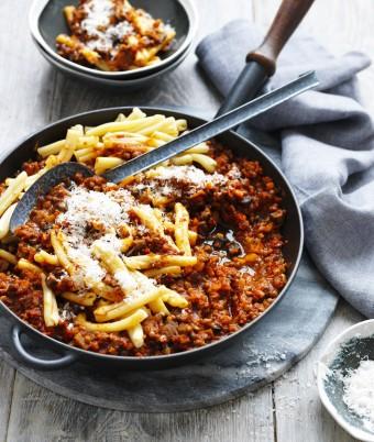 Mushroom and Lentil Bolognese sauce