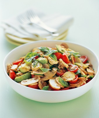 Easy mushroom, Tomato and Avocado Salad recipe