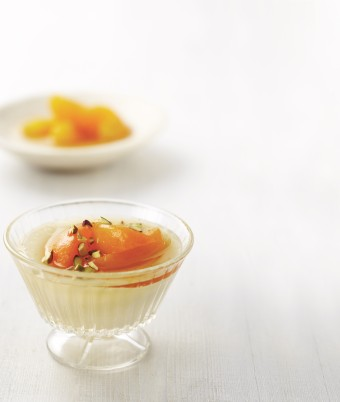 Orange Apricot Milk Pudding recipe