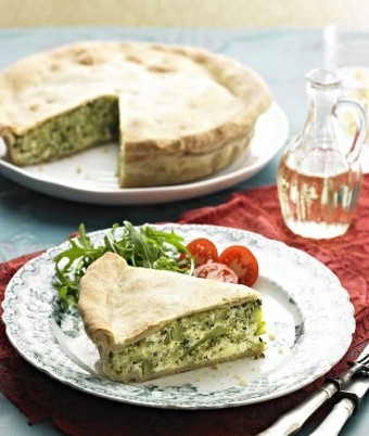 Rustic Tart with Broccoli and ricotta
