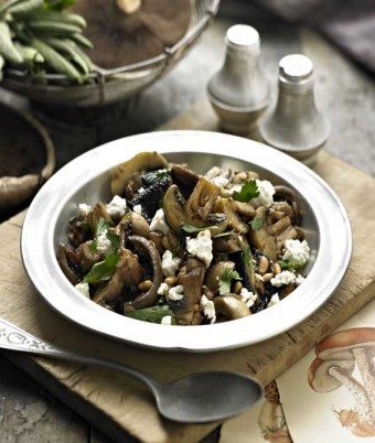 Mushrooms with Sage Balsamic and Feta