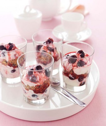 Crunchy Cherry Breakfast Yoghurt