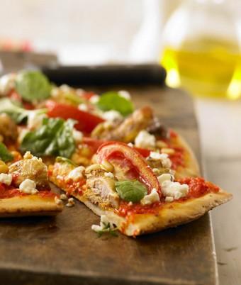 Quail And Feta Pizza
