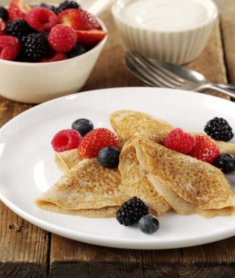 Cinnamon Buttermilk Crepes