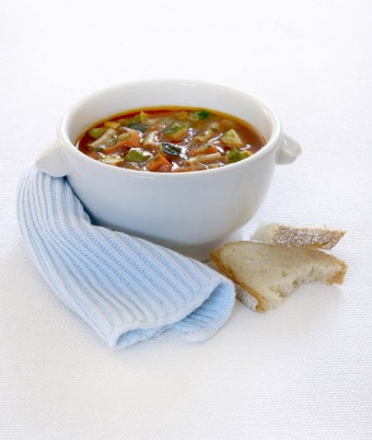 Minestrone Soup with Basil, Garlic & Oregano