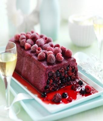 Summer Berry Pudding with Mascarpone Cream