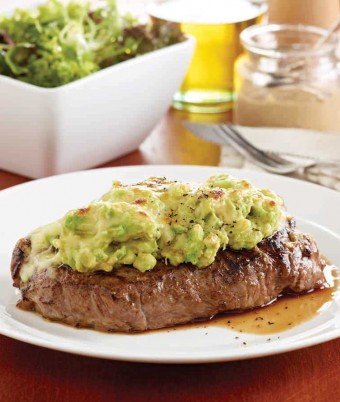 Avocado and Mozzarella Mustard Steaks