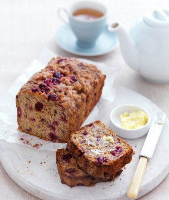 Raspberry & Banana Bread