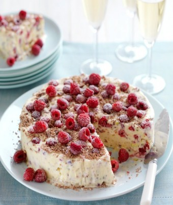 Raspberry, Meringue & Chocolate Ice-Cream Cake