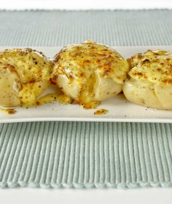 Mozzarella and Dukkah Smashed Potatoes