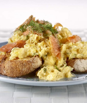 Smoked Trout Scrambled Eggs