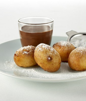 Orange and Ricotta Fritelle with Italian Hot Chocolate
