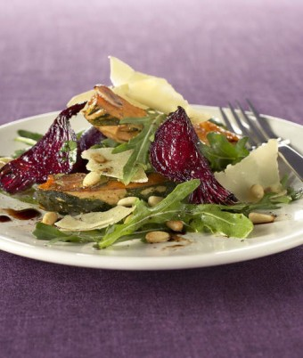 Pumpkin, Beetroot and Parmesan Salad