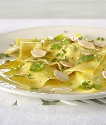 Ricotta, Pumpkin and Leek Ravioli