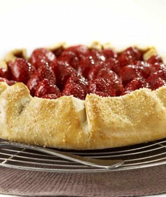 Roasted Strawberry and Ricotta Tart