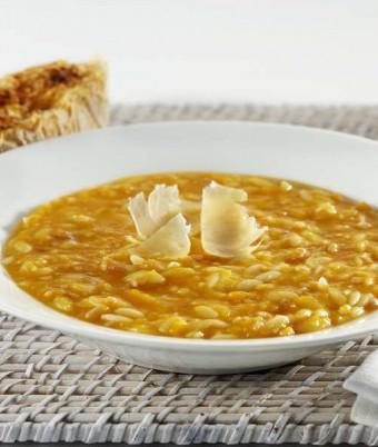 Smokey Pumpkin Soup with Parmesan Garlic Toasts