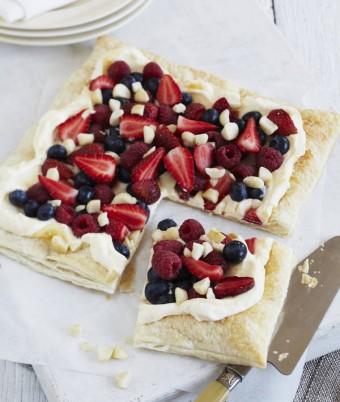 Lemon Cream and Berry Tart with Macadamias