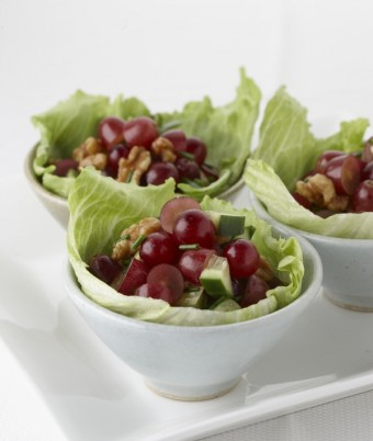 Grape and Walnut Salad Cups