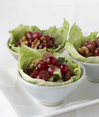 Grape and Walnut Salad Cups