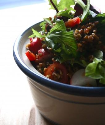 Freekeh, Radish and Mung Bean Salad