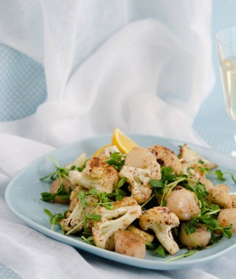 Seared Scallop and Cauliflower Salad