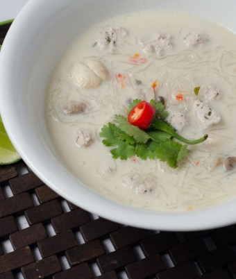 Thai Chicken Coconut Noodle Soup