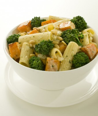 Basil, Broccoli and Pumpkin Pasta