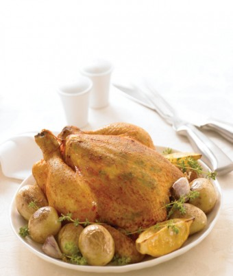 Roast Lemon Herbed Cornfed Chicken
