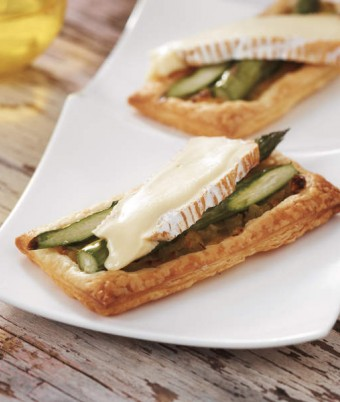 Brie and Asparagus Galettes