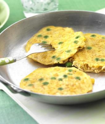 Mini Noodle & Sweetcorn Omelettes