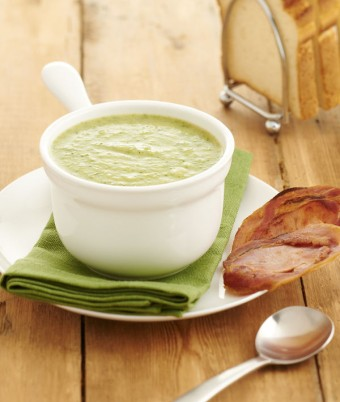 Broccoli Soup With Crispy Pancetta