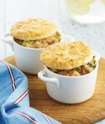 Individual Country Chicken and Vegetable Pies