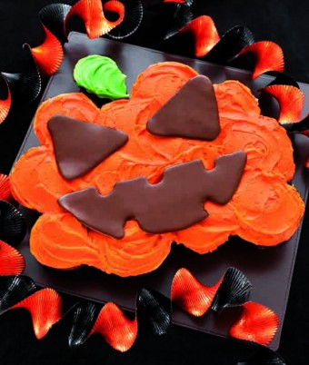 Scary Chocolate Jack O'Lanten Cup Cake